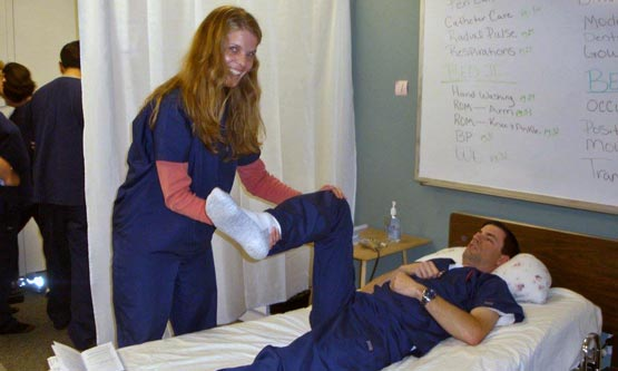 A student preparing for CNA certification training